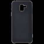 Coque Silicone Liquide Noir pour Samsung J6 2018