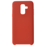 Coque Silicone Liquide Rouge pour Samsung A6 Plus 2018