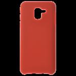 Coque Silicone Liquide Rouge pour Samsung J6 2018