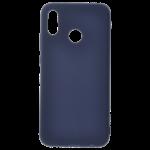 Coque TPU Soft Touch Bleu pour Huawei P20 Lite