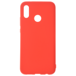 Coque TPU Soft Touch Rouge pour Huawei P20 Lite