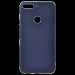 Coque TPU Soft Touch Bleu pour Huawei Y7 2018