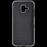 Coque Defender Card Noir pour Samsung A6 2018