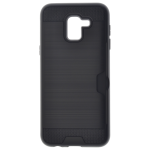 Coque Defender Card Samsung J6 2018 Noir