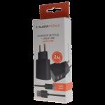 Pack Chargeur Secteur Double USB 3.4A + Cable USB Type C 1M Noir