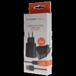 Pack Chargeur Secteur Double USB 3.4A + Cable USB Micro USB 1M Noir