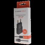 Pack Chargeur Secteur 1A + Cable Lightning 3M Noir (non MFI)
