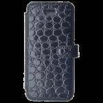 Etui Folio Class Croco Noir pour Apple iPhone 5/5S/SE