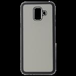 Coque Souple Noir et plaque Alu pour Samsung A6 Plus 2018, J8 2018