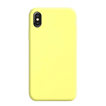 Coque Silicone Liquide Jaune pour Apple iPhone X/XS