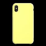 Coque Silicone Liquide Jaune pour Apple iPhone XS Max