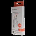 Pack Chargeur Secteur 1A + Câble USB Type C 1M Blanc TQ