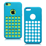 Coque Round Point Bleu pour Apple iPhone 5C