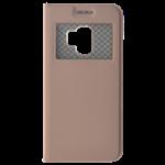 Étui Folio avec Fenêtre Rose pour Samsung A8 2018