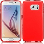 Coque TPU Glossy Rouge pour Samsung S6 Edge