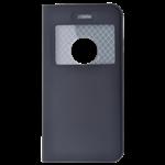 Étui Folio avec Fenêtre Noir pour Huawei Y6 2017