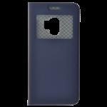 Étui Folio avec Fenêtre Bleu pour Samsung A8 2018