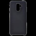 Coque Silicone Liquide Noir pour Samsung J4 Plus 2018