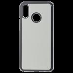 Coque Souple Noir et plaque Alu pour Huawei P30 Lite