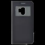 Étui Folio avec Fenêtre Noir pour Samsung A8 2018