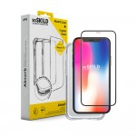 Pack SoSkild Coque Absorb et Verre Trempé Transparent pour iPhone XS Max