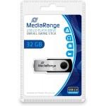 Clé USB 32 Gb USB2.0 Mediarange Argent