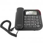 Téléphone Filaire Telefunken TF 651 Répondeur Solo Silver