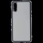 Coque Souple Noir et plaque Alu pour Samsung S21 Ultra