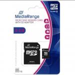 Carte Mémoire Micro SDHC Médiarange 8 Gb Classe 10 + Adaptateur