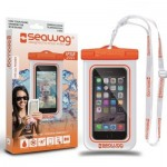 Pochette Etanche pour Smartphone Seawag Blanc et Orange