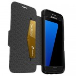 Etui Folio OtterBox Cuir Strada Noir pour Samsung S7