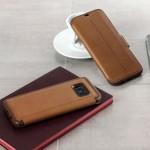 Etui Folio OtterBox Cuir Strada Marron pour Samsung S8