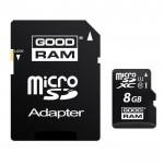 Carte Mémoire Micro SD Goodram 8 classe 4 + Adaptateur