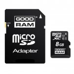 Carte Mémoire Micro SDHC Goodram 8 Gb Classe 10 + Adaptateur