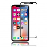 Verre Trempé OptiGuard Curve Noir iPhone X Qdos Garantie à Vie