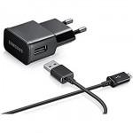 Chargeur Secteur Voyage Pour Samsung Micro USB Euro Noir