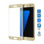 Verre Trempé Bord à Bord 3D Or pour Samsung S7