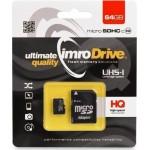 Carte Micro SD Imro 64 GB Classe 10 + Adaptateur