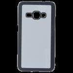 Coque Rigide Noir et plaque Alu pour Samsung J1 2016
