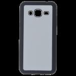 Coque Souple Noir et plaque Alu pour Samsung J3 2016