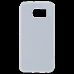 Coque Souple Blanc et plaque Alu pour Samsung S6