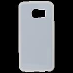 Coque Souple Blanc et plaque Alu pour Samsung S6 Edge