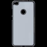 Coque Souple Noir et plaque Alu pour Huawei P8 Lite 2017